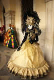 Carnaval van Venetië - Venetiaanse Maskerade stock afbeeldingen