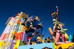 Carnaval van Viareggio 2011, Italië Stock Foto's