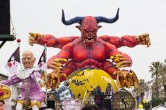 Carnaval 2016 van Viareggio Stock Afbeeldingen