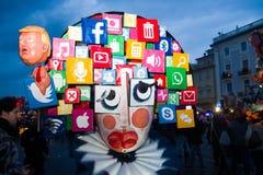Carnaval van Viareggio, de uitgave van 2019 stock fotografie