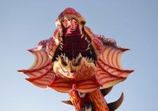 Carnaval van Viareggio rode draak Stock Fotografie