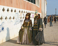 Carnaval in Venetië Stock Foto's
