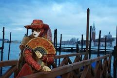 Carnaval in Venetië, Italië Royalty-vrije Stock Foto