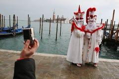 Carnaval in Venetië, Italië Stock Foto's