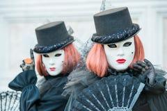 Carnaval in Venetië Italië Stock Fotografie