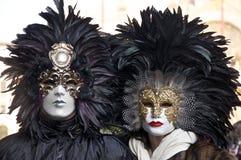Carnaval Venetië, Maskers Stock Fotografie