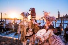 Carnaval in Venetië, Italië Royalty-vrije Stock Foto's