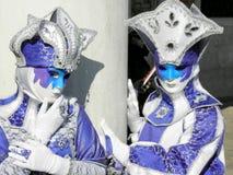 Carnaval, Venezia, kostuums en maskers 20 Stock Fotografie