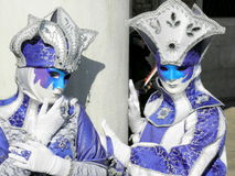 Carnaval, Venezia, trajes e máscaras 20 Fotografia de Stock