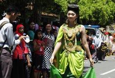 Carnaval-verjaardagsviering Nganjuk 2015 stock afbeelding