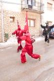 CARNAVAL IN VEVCANI, MACEDONIË Royalty-vrije Stock Fotografie