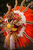 Carnaval-vrouw van Malang, Indonesië stock afbeelding