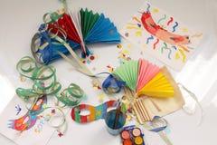 Carnaval y los dibujos de los niños imagen de archivo libre de regalías