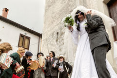 CARNAVAL ZITA DE SATRIANO LUCANIA Foto de Stock Royalty Free