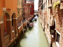Carnavales del banquete del canal de Venecia foto de archivo