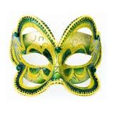 Carnavalmasker op wit wordt geïsoleerd dat Royalty-vrije Stock Afbeelding