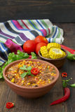 carne τσίλι con Παραδοσιακό μεξικάνικο πιάτο Στοκ φωτογραφία με δικαίωμα ελεύθερης χρήσης