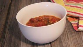 Carne жулика Chili в шаре сток-видео