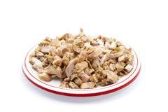 Carne affettata fresca del pollo Fotografia Stock