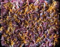 carne affettata su un vassoio Immagine Stock