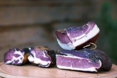 Carne affumicata Fotografia Stock Libera da Diritti