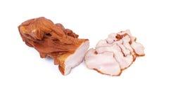 Carne affumicata affettata Fotografia Stock Libera da Diritti