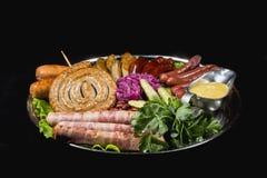 Carne affumicata assortita fotografie stock