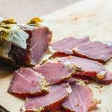 Carne affumicata del cinghiale Immagini Stock Libere da Diritti