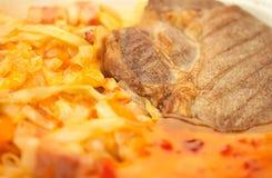 Carne & Cabbage_a Immagini Stock Libere da Diritti