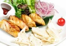 Carne arrostita con lavash Fotografia Stock