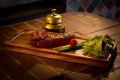 Carne arrostita con le verdure Fotografie Stock