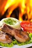 Carne arrostita della bistecca Immagini Stock