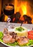 Carne arrostita della bistecca Fotografia Stock Libera da Diritti