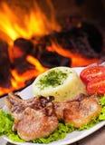 Carne arrostita della bistecca Fotografie Stock Libere da Diritti
