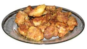 Carne arrostita isolata Fotografia Stock Libera da Diritti