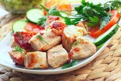 Carne arrostita, tacchino o pollo Fotografia Stock Libera da Diritti