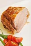 Carne asada cocinada del lomo de cerdo Imagen de archivo libre de regalías