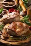 Carne asada con las especias Imagenes de archivo