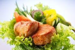 Carne asada con las verduras Imagen de archivo libre de regalías