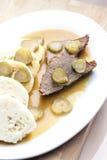 Carne asada de carne de vaca de Znojemska Fotografía de archivo libre de regalías
