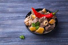 Carne asada de cordero con el membrillo Imagen de archivo libre de regalías
