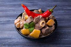 Carne asada de cordero con el membrillo Fotografía de archivo libre de regalías