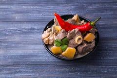 Carne asada de cordero con el membrillo Foto de archivo