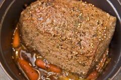Carne asada de crisol de la carne de vaca Foto de archivo