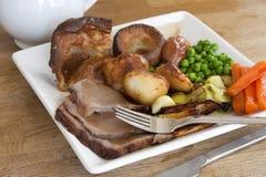 Carne asada de domingo imágenes de archivo libres de regalías