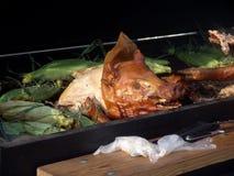Carne asada del cerdo imagenes de archivo