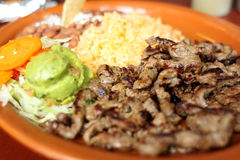 Carne asada dinner Stock Images