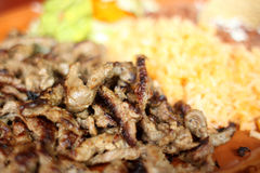 Carne asada dinner Stock Image