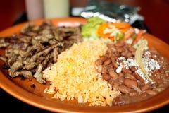 Carne asada dinner Stock Photography