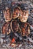 Carne asada a la parilla Fotos de archivo libres de regalías